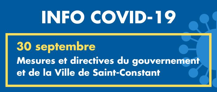 Ville De Saint Constant Saint Constant En Zone Rouge Mesures Appliquees